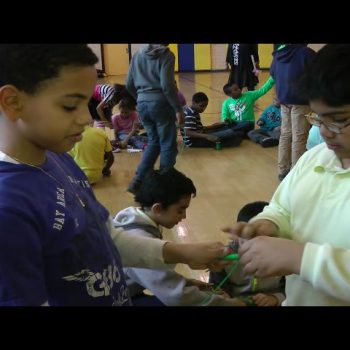 Boys Wrapping Wire In Grade 4 Electrical Engineering1319